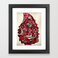 Red and Black (Rotate) Framed Art Print
