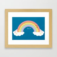 that's why we can't see rainbow very often Framed Art Print