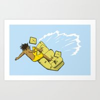 Art Print featuring Couch Surfer by Bouké