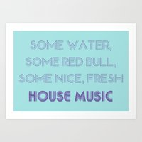 House Music Art Print