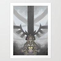 zelda Art Prints featuring Zelda by hachiyuki