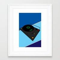 Turn Table Framed Art Print