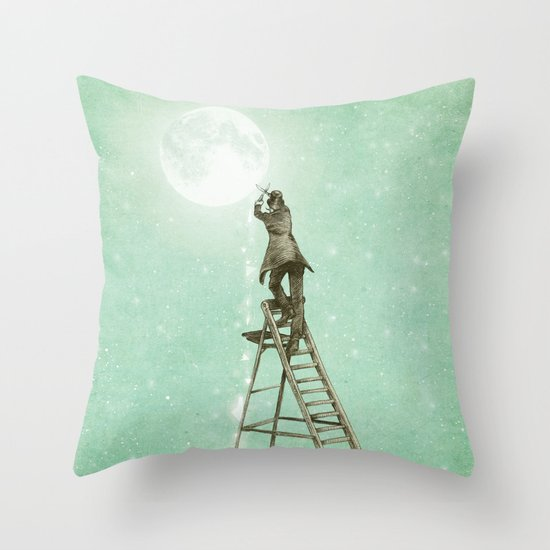 Waning Moon Throw Pillow