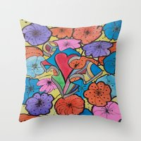 AUTISM OF PEACE AND LOVE Throw Pillow