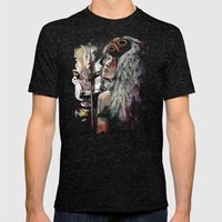 Mononoke San And The Spi… Mens Fitted Tee Tri-Black SMALL