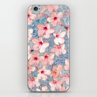 Shabby Chic Hibiscus Pat… iPhone & iPod Skin