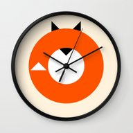 A Most Minimalist Fox Wall Clock