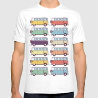 VW Van Parade Mens Fitted Tee White SMALL