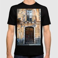 Sicilian Facade Of Taorm… Mens Fitted Tee Black SMALL