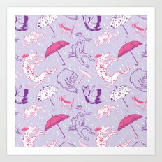 Raining Cats and Dogs Art Print