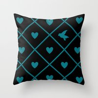 Always Near (from the Valentine set) (colors: midnight malachite) Throw Pillow