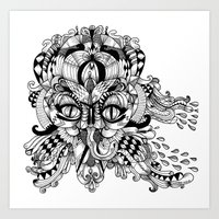 Mask Face Art Print