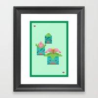 Green Family Framed Art Print