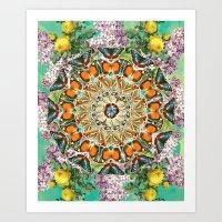 Butterfly Circle Art Print
