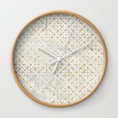 gOld grid Wall Clock