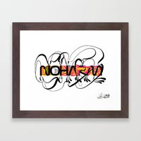 NOHARM Framed Art Print