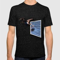 What A Catch Mens Fitted Tee Tri-Black SMALL