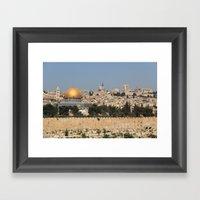 Jerusalem And The Dome O… Framed Art Print