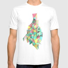Origami II White Mens Fitted Tee SMALL