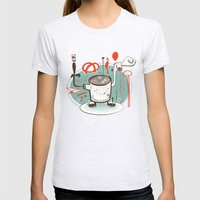 Easily Distracted Womens Fitted Tee Ash Grey SMALL