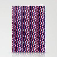 Triangle Argyle Stripes Stationery Cards