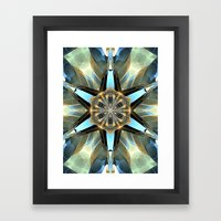 Abstract Earth Tones Emb… Framed Art Print