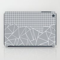 Abstract Outline Grid Gr… iPad Case