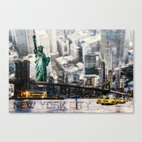 New York City - Collage Canvas Print