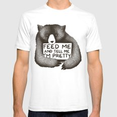 Feed Me And Tell Me I'm Pretty Bear Mens Fitted Tee SMALL White