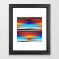 Stripes Colorful And Shi… Framed Art Print