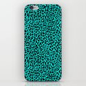 Neon Turquoise Leopard iPhone & iPod Skin