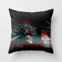 degenerated speed Throw Pillow