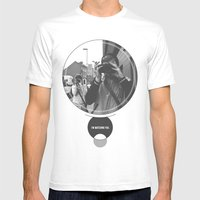I'm Watching You. Mens Fitted Tee White SMALL