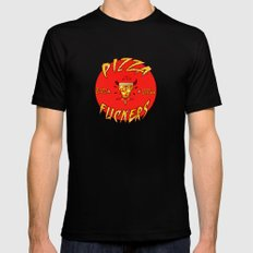 Pizza Fuckers Black SMALL Mens Fitted Tee