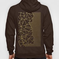 Ab Outline Grid Black and Gold Hoody