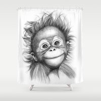 Monkey - Baby Orang Outa… Shower Curtain