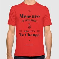 Einstein Quote, Words Of… Mens Fitted Tee Red SMALL