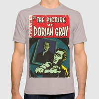 Oscar Wilde's Dorian Gray: Vintage Comic Cover Mens Fitted Tee Cinder SMALL