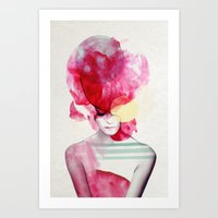 Art Prints featuring Bright Pink - Part 2  by Jenny Liz Rome