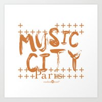 Music City Paris Art Print