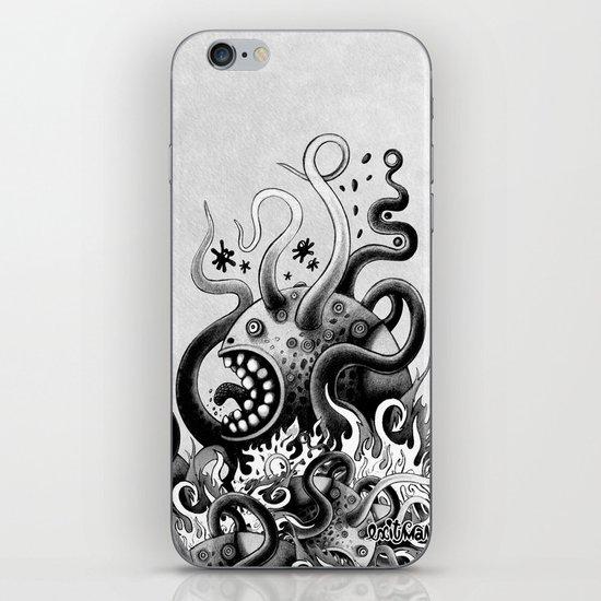 Dark Octoworm iPhone & iPod Skin