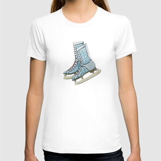Polka dot ice skates T-shirt