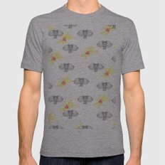 INDIAN WALLPAPER Mens Fitted Tee Athletic Grey SMALL