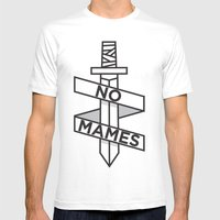 NO MAMES Mens Fitted Tee White SMALL