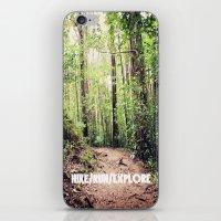 HIKE/RUN/EXPLORE iPhone & iPod Skin