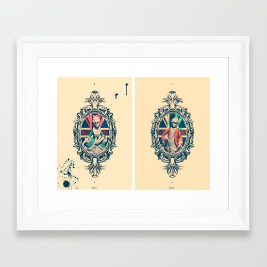Bourgeoisie Man and Woman Framed Art Print