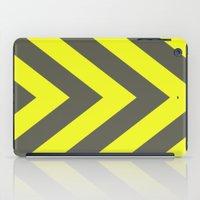 Chevrons Warning Sign iPad Case