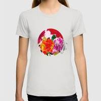 Summer In Pink Womens Fitted Tee Silver SMALL