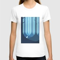 forest T-shirts featuring Blue forest by Roland Banrevi