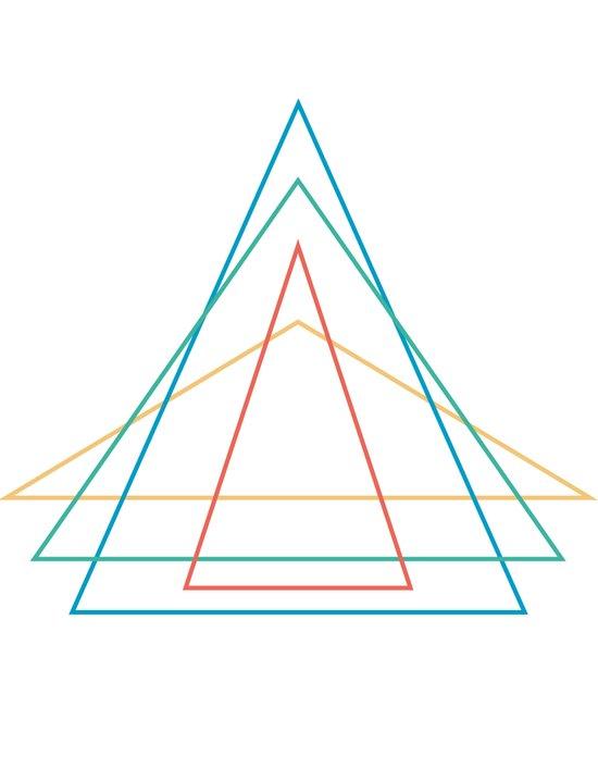 4 triangles Art Print
